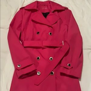Calvin Klein Fuchsia pink trenchcoat